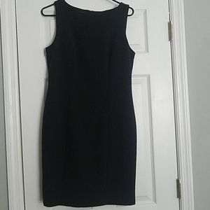 AGB black boatneck dress
